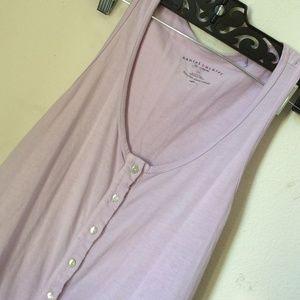Lavender Ombre Shell Buttons Tunic